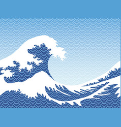 japanese style seamless great wave vector image