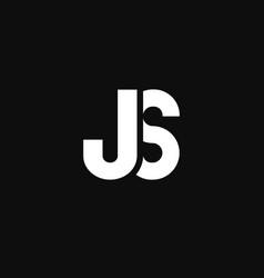 Logo letters js flattened vector