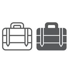 luggage line and glyph icon bag and baggage vector image