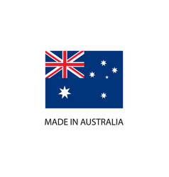 made in australia sign vector image