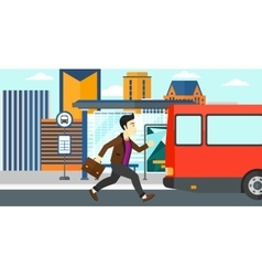Man missing bus vector image