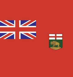 Manitoba flag vector