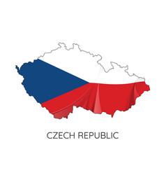 map czech republic vector image