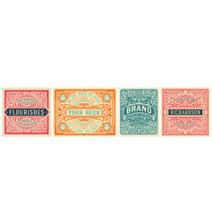 mega set 8 vintage labels layered vector image