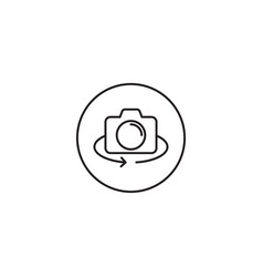 Mobile camera rotate icon isolated on white vector