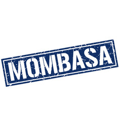 mombasa blue square stamp vector image