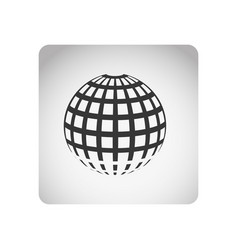 Monochrome square frame with silhouette sphere vector