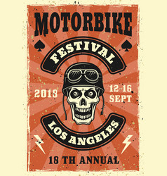 Motorbike festival colored vintage poster vector