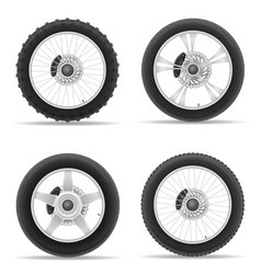 Motorcycle wheel 05 vector