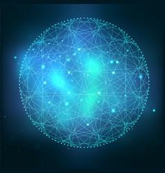 Mystical sacred geometry symbol vector