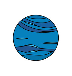 Neptune planet universe galaxy vector