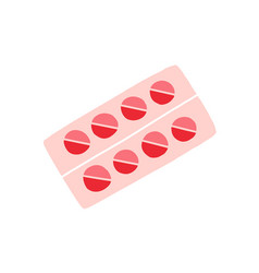 Pack of birth control pills blister of oral vector