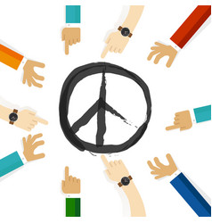 Peace conflict resolution symbol international vector