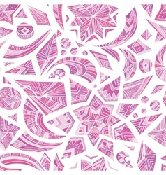 Pink aztec winter pattern vector image