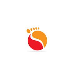 Round foot step logo vector
