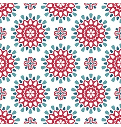 Round retro pattern vector image