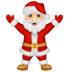 Santa cartoon waving vector image