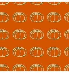 Seamless pattern of autumn pumpkins Harvest of vector