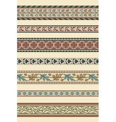 Set of seven decorative borders vector image