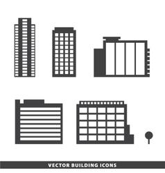 Set office buildings apartments vector