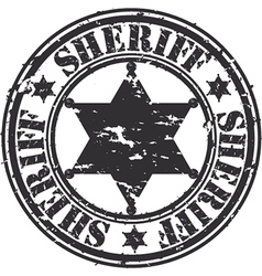 Sheriff stamp vector