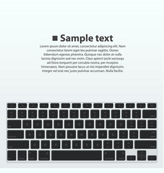 Silhouette keyboard vector