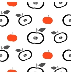 Simple apple fruit repeating pattern vector