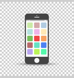 smartphone icon flat phone on isolated background vector image