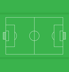 soccer field from top view flat design vector image