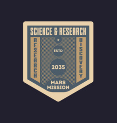 space research vintage isolated label vector image vector image