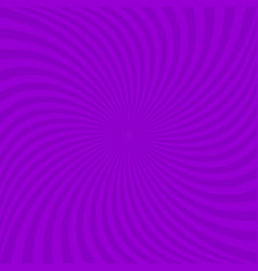 Spiral background from purple curved rays vector