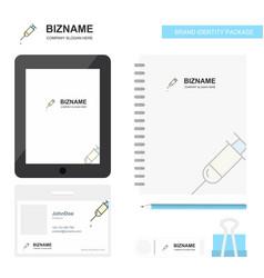 syringe business logo tab app diary pvc employee vector image