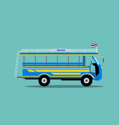 thailand minibus design local car in phuket vector image