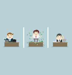 Three office scenes vector