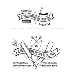 Trendy retro vintage insignias - tattoo badges vector