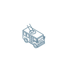 trolleybus passenger transport isometric icon 3d vector image