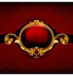 Vintage Red Frame vector image