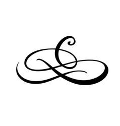vintage swirl calligraphic flourish vector image