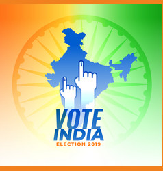 vote for india election background vector image