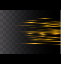yellow horizontal glare vector image