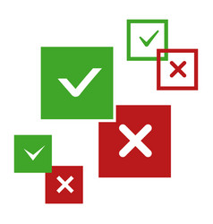 yes and no positive and negative icons vector image