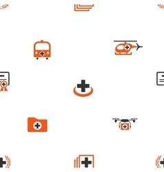 Emergency Seamless Flat Wallpaper vector image