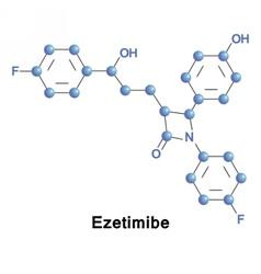 Ezetimibe lowers plasma cholesterol levels vector