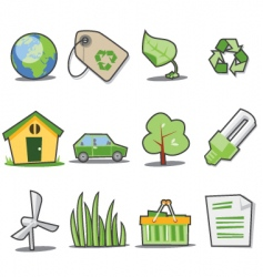 green icons fresh collection vector image vector image