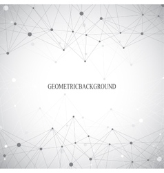 Geometric grey background molecule and vector image vector image