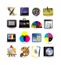 graphic design icon set vector image vector image