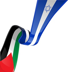 Israel and palestine flag vector image