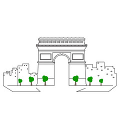 isolated paris cityscape vector image