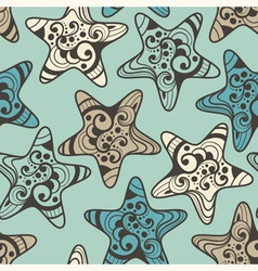 seamless pattern with highly detailed stars vector image vector image