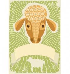 sheep grunge vector image vector image